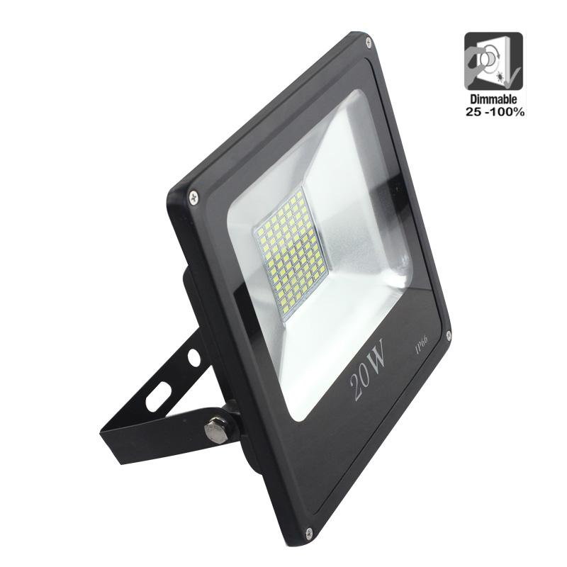 Proyector led exterior smd 20w fr o 6000k dimmable - Proyectores led exterior ...
