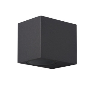 APLIQUE DE PARED PARA EXTERIOR CON LED INTEGRADO CUADRADO 3W IP65 NEGRO 4000K