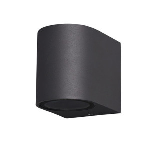 APLIQUE DE PARED PARA EXTERIOR CON LED INTEGRADO CUADRADO TUNEL IP65 NEGRO 4000K
