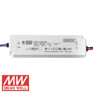TRANSFORMADOR 24V 100W (4,17A) MEAN WELL IP67