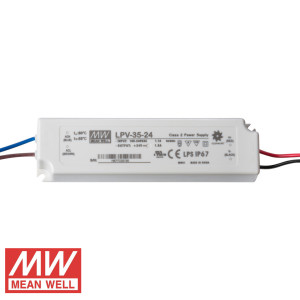TRANSFORMADOR 24V 36W (1,5A) MEAN WELL IP67