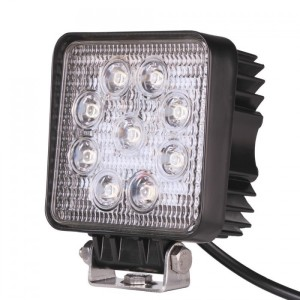 FARO LED DE TRABAJO CUADRADO 27W IP67 6000K