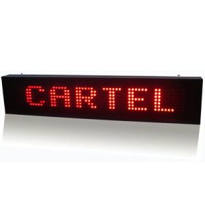 LETRERO PASAMENSAJES LED RECTANGULAR MONOCOLOR PIXEL 10 USB IP20 ROJO