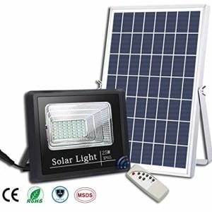 PROYECTOR LED EXTERIOR SOLAR 25W CON PANEL SOLAR Y MANDO A DISTANCIA 6400K