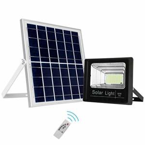 PROYECTOR LED EXTERIOR SOLAR 60W CON PANEL SOLAR Y MANDO A DISTANCIA 6400K