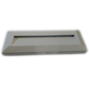 APLIQUE DE PARED PARA EXTERIOR CON LED INTEGRADO RECTANGULAR (23080) 2W IP65 BLANCO 3000K