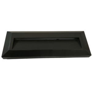 APLIQUE DE PARED PARA EXTERIOR CON LED INTEGRADO RECTANGULAR (23080) 2W IP65 GRIS 3000K