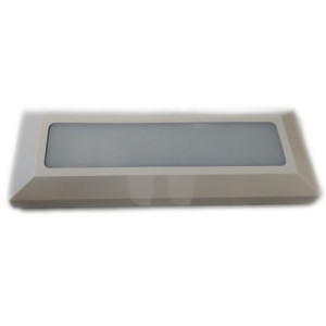APLIQUE DE PARED PARA EXTERIOR CON LED INTEGRADO RECTANGULAR (23080) 3W IP65 BLANCO 3000K