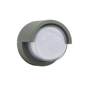 APLIQUE DE PARED PARA EXTERIOR CON LED INTEGRADO F843F 12W IP54 GRIS 4000K