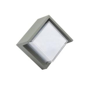 APLIQUE DE PARED PARA EXTERIOR CON LED INTEGRADO F843Y 12W IP54 GRIS 4000K