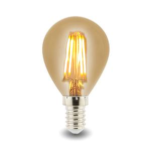 BOMBILLA LED G45 (ESFÉRICA) E14 4W FILAMENTO AMBAR 2700K