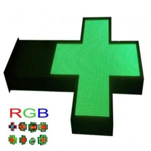 LETRERO PASAMENSAJES LED RGB CRUZ PIXEL 6 ILUMINACION 2 CARAS WIFI IP65 RGB