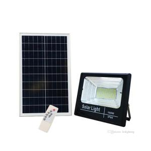 PROYECTOR LED EXTERIOR SOLAR 100W CON PANEL SOLAR Y MANDO A DISTANCIA 6500K