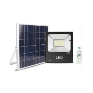 PROYECTOR LED EXTERIOR SOLAR 150W CON PANEL SOLAR Y MANDO A DISTANCIA 6500K