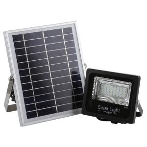PROYECTOR LED EXTERIOR SOLAR 30W CON PANEL SOLAR Y MANDO A DISTANCIA 6500K