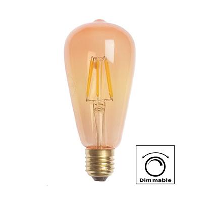 BOMBILLA LED ST64 (PERA) E27 8W FILAMENTO AMBAR 2700K