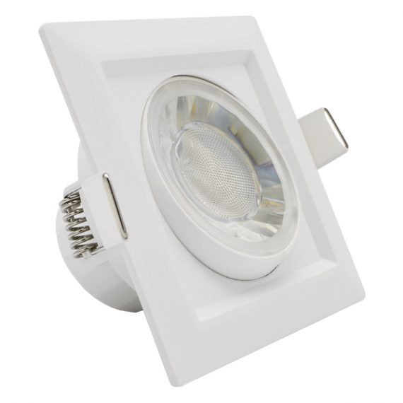 LED SPOT CUADRADO 8W BLANCO ORIENTABLE IP54 3000K 1