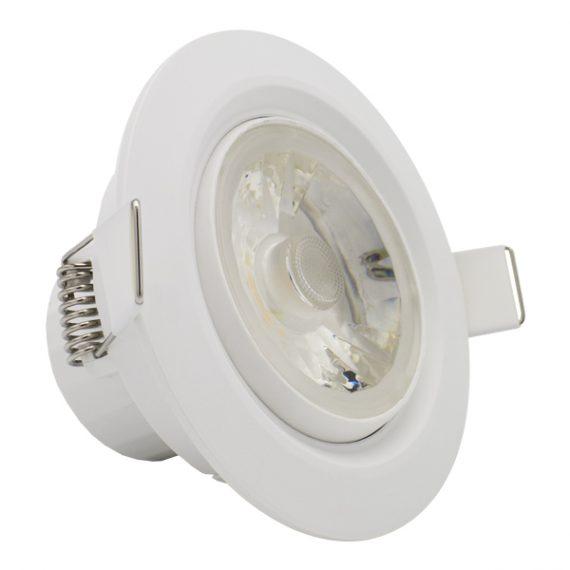 LED SPOT REDONDO 8W BLANCO ORIENTABLE  IP54 3000K 1