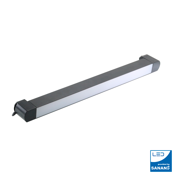 FOCO CARRIL MONOFÁSICO LINEAL 24W BASCULANTE 80º NEGRO 4000K
