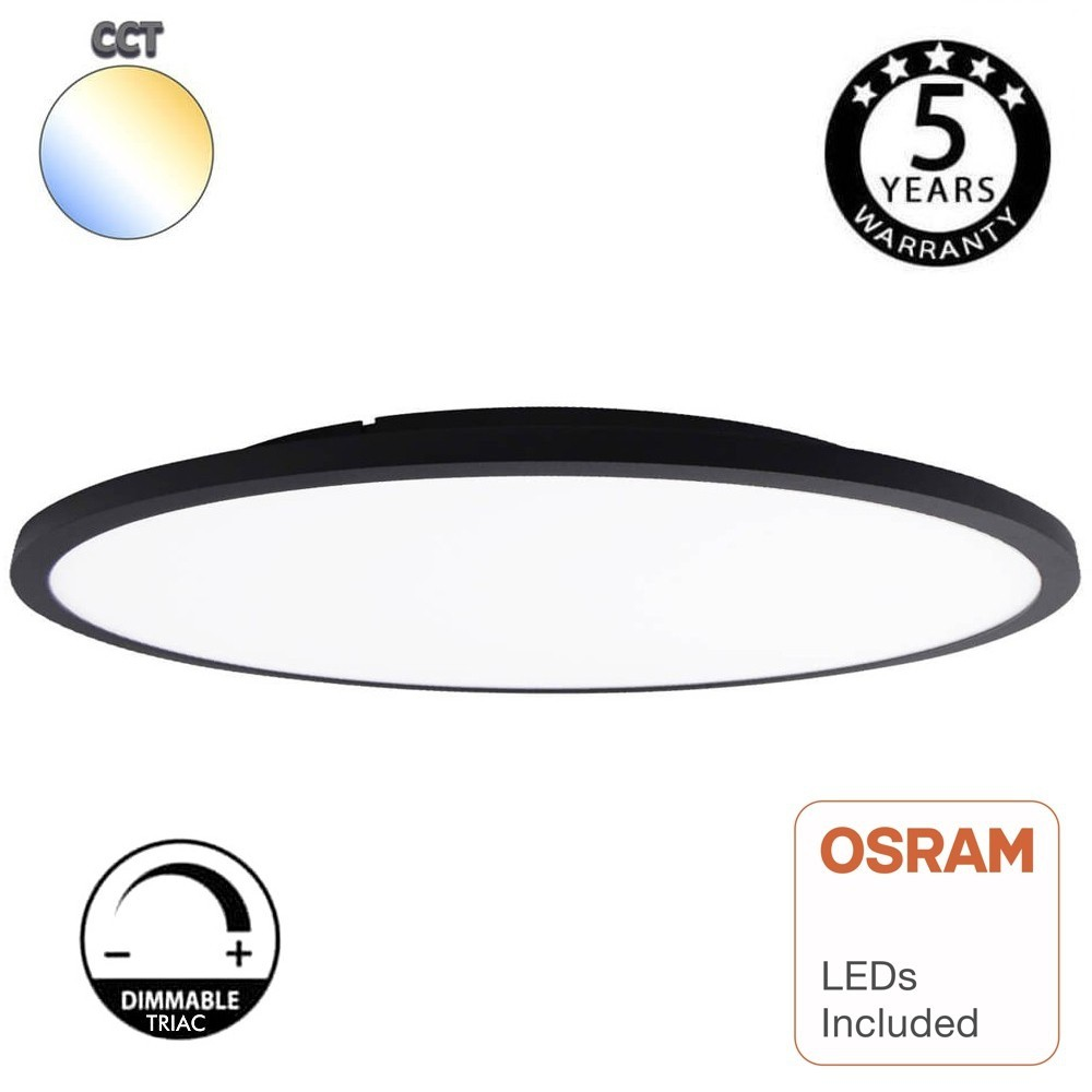 PLAFON LED SLIM NEGRO 40W CCT DIMABLE CHIP OSRAM 3K/4K/6K