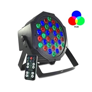 FOCO LED MONTANA 36W RGBW CON MANDO Y DMX