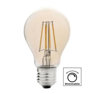 BOMBILLA LED A60 (STANDARD) E27 7W FILAMENTO AMBAR DIMABLE 2700K