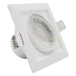 LED SPOT CUADRADO 8W BLANCO ORIENTABLE IP54 6000K