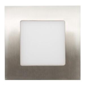 LED SPOT CUADRADO 5W NÍQUEL SATINADO IP54 6000K