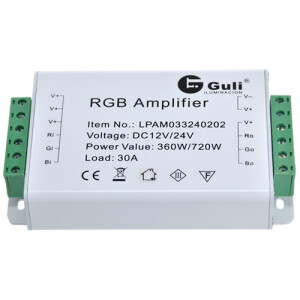 AMPLIFICADOR RGB 12V-24V 30A GULI IP20