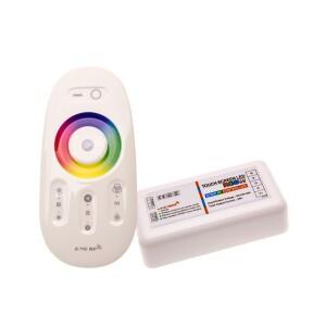 CONTROLADOR RGB+W 12V-24V 18A CON MANDO A DISTANCIA RF