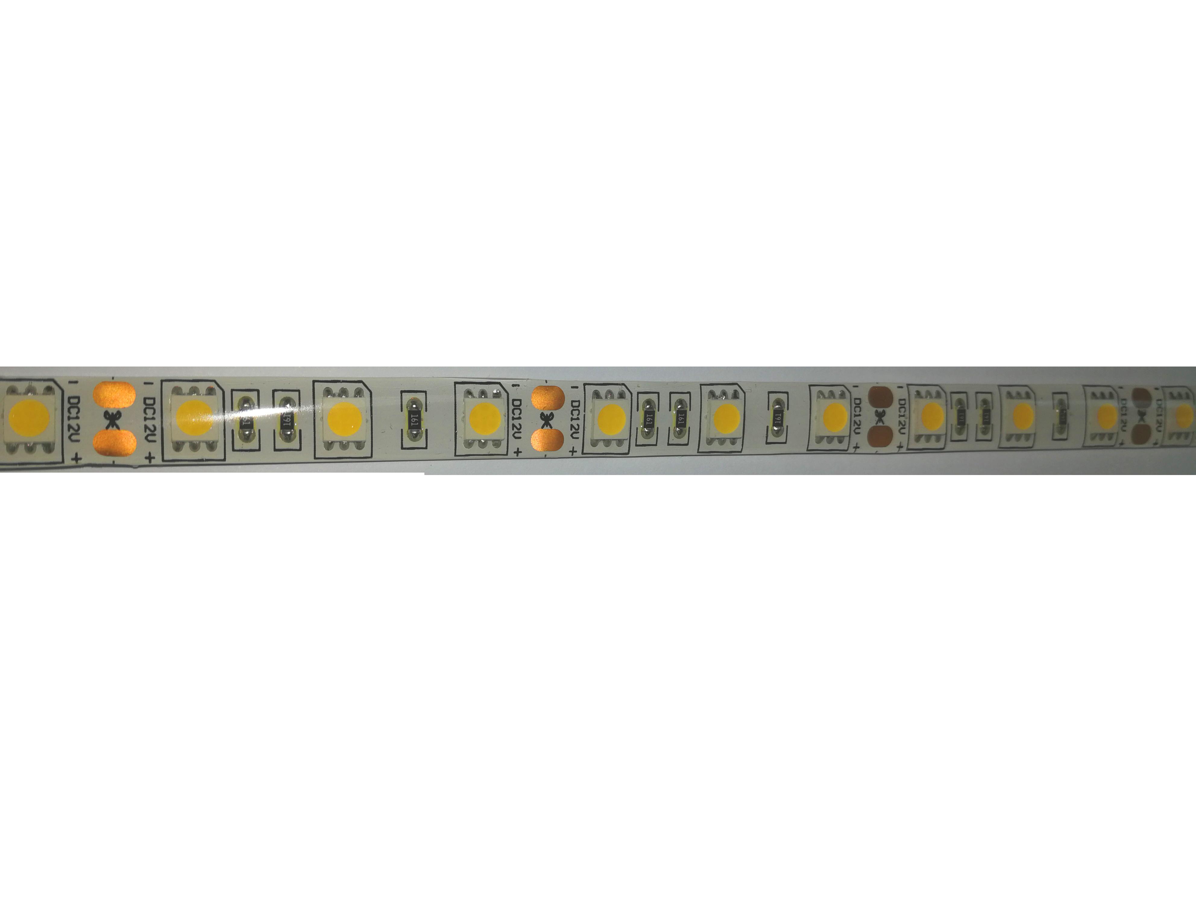 TIRA LED 12V 5050 60L 14,4W-m IP44 ROJO