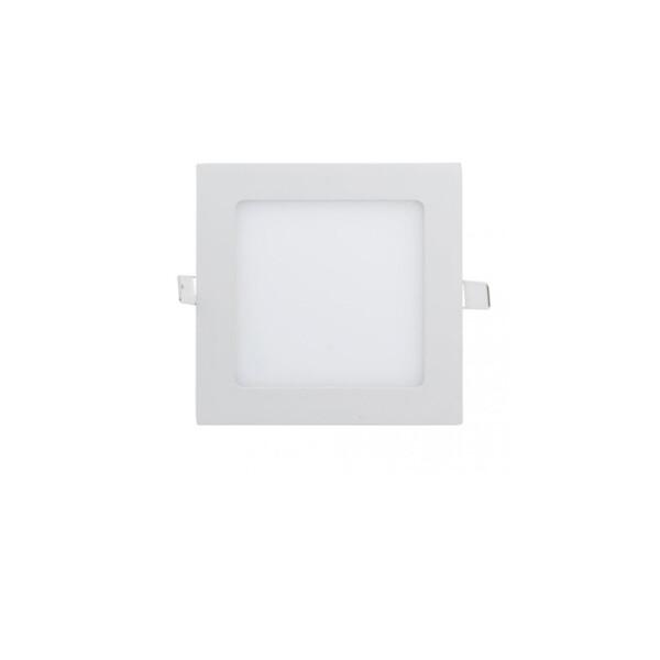 DOWNLIGHT LED EXTRAPLANO CUADRADO PARA EMPOTRAR 9W BLANCO 3000K 1