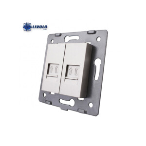 MODULO TOMA DOBLE RED RJ45 CAT6 GRIS 80X80