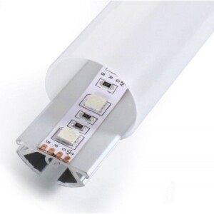PERFIL TUBULAR PARA TIRA LED + DIFUSOR OPAL + TAPAS FINALES