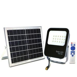 PROYECTOR LED EXTERIOR SOLAR 60W CON PANEL SOLAR Y MANDO A DISTANCIA 6500K